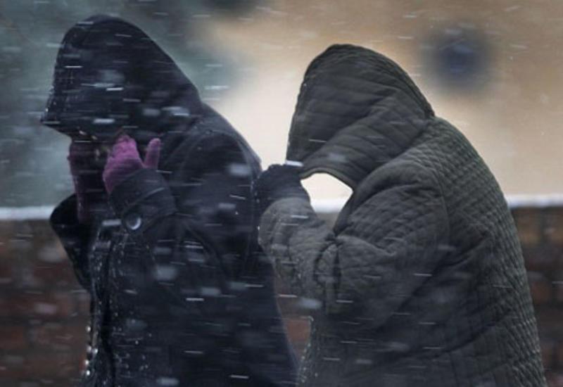 В Азербайджане ожидаются ливни, град, снег и усиление ветра