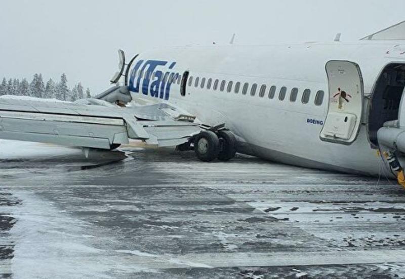 Появились кадры эвакуации пассажиров из салона самолета UTair в России