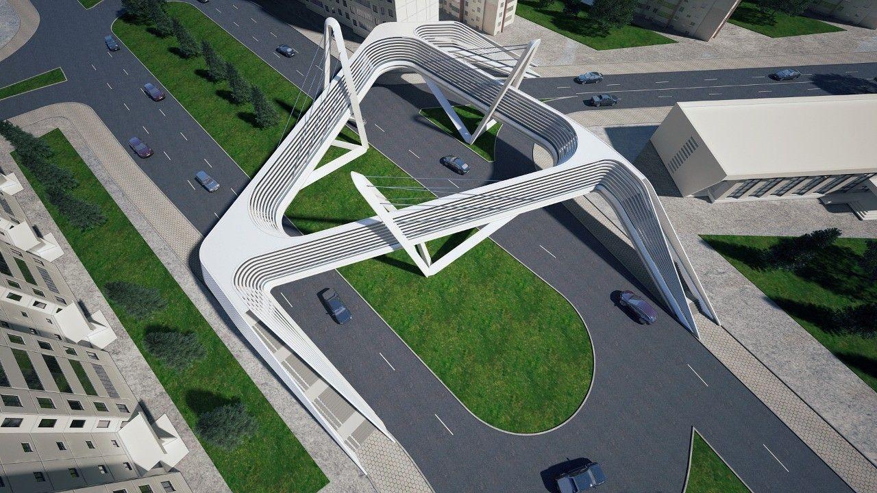 """В Баку строится необычный """"подвесной мост"""""""