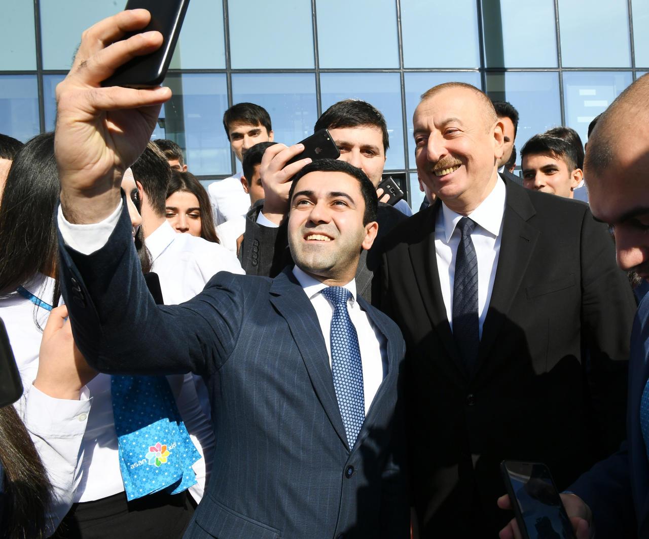 Президент Ильхам Алиев принял участие в церемонии открытия центра ASAN xidmət в Кюрдамире