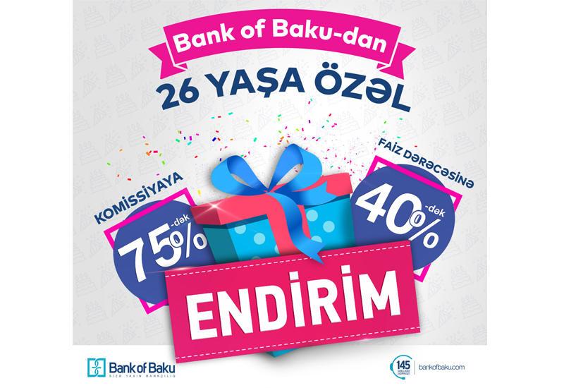 Bank of Baku 26 yaşında müştərilərini sevindirir (R)
