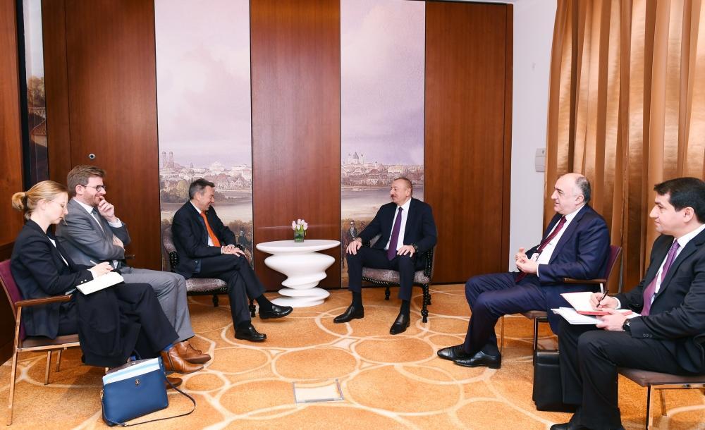 Президент Ильхам Алиев встретился в Мюнхене с президентом Международного комитета Красного Креста