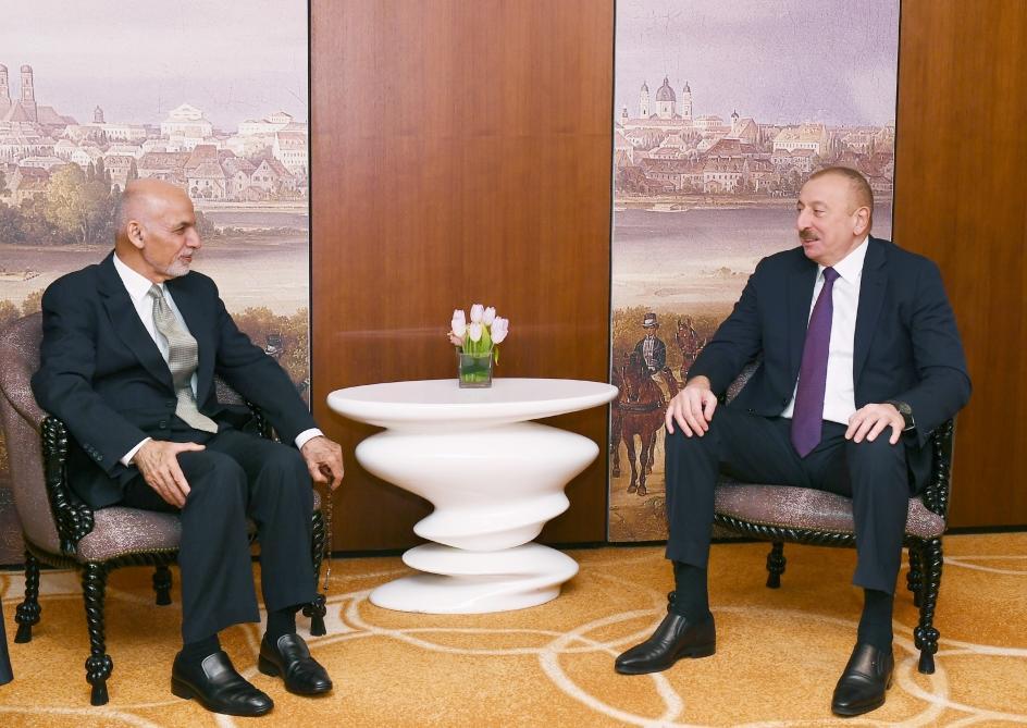 Президент Ильхам Алиев встретился в Мюнхене с президентом Афганистана