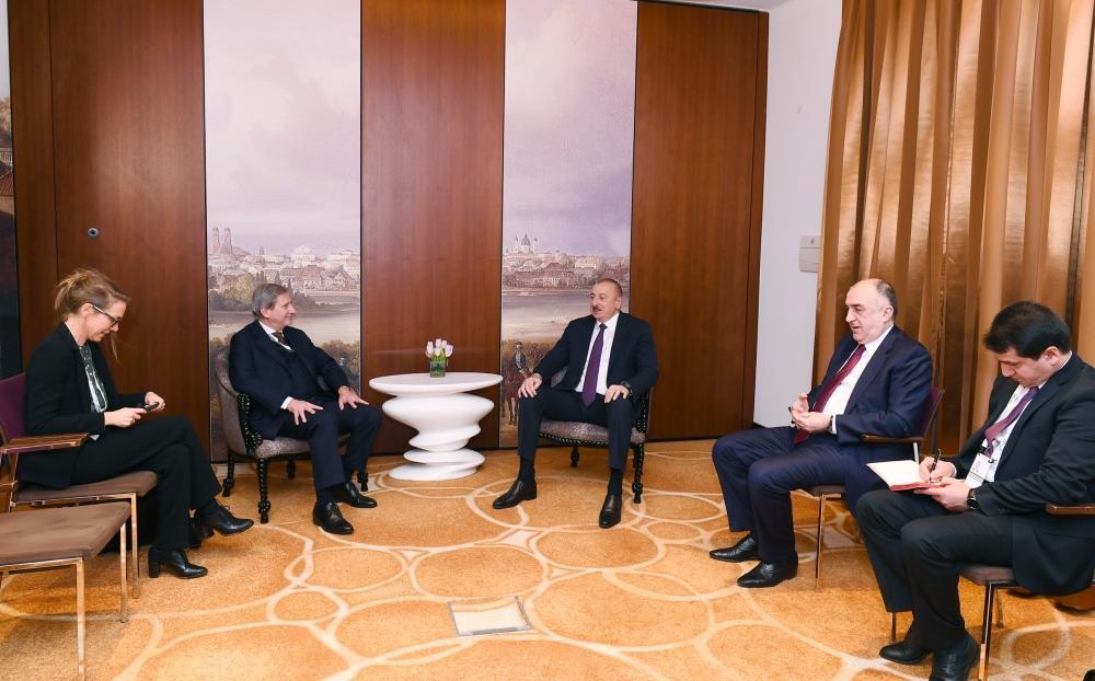 Состоялась встреча Президента Ильхама Алиева с комиссаром Европейского Союза