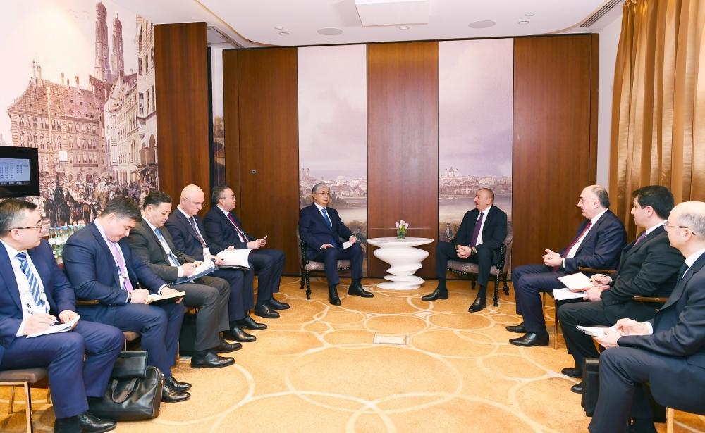 В Мюнхене состоялась встреча Президентов Азербайджана и Казахстана