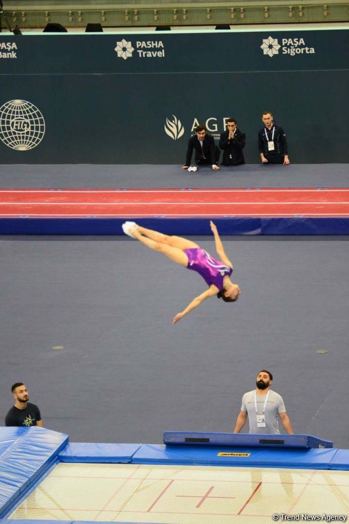 Азербайджанская гимнастка Сельджан Магсудова представила свою программу в рамках Кубка мира