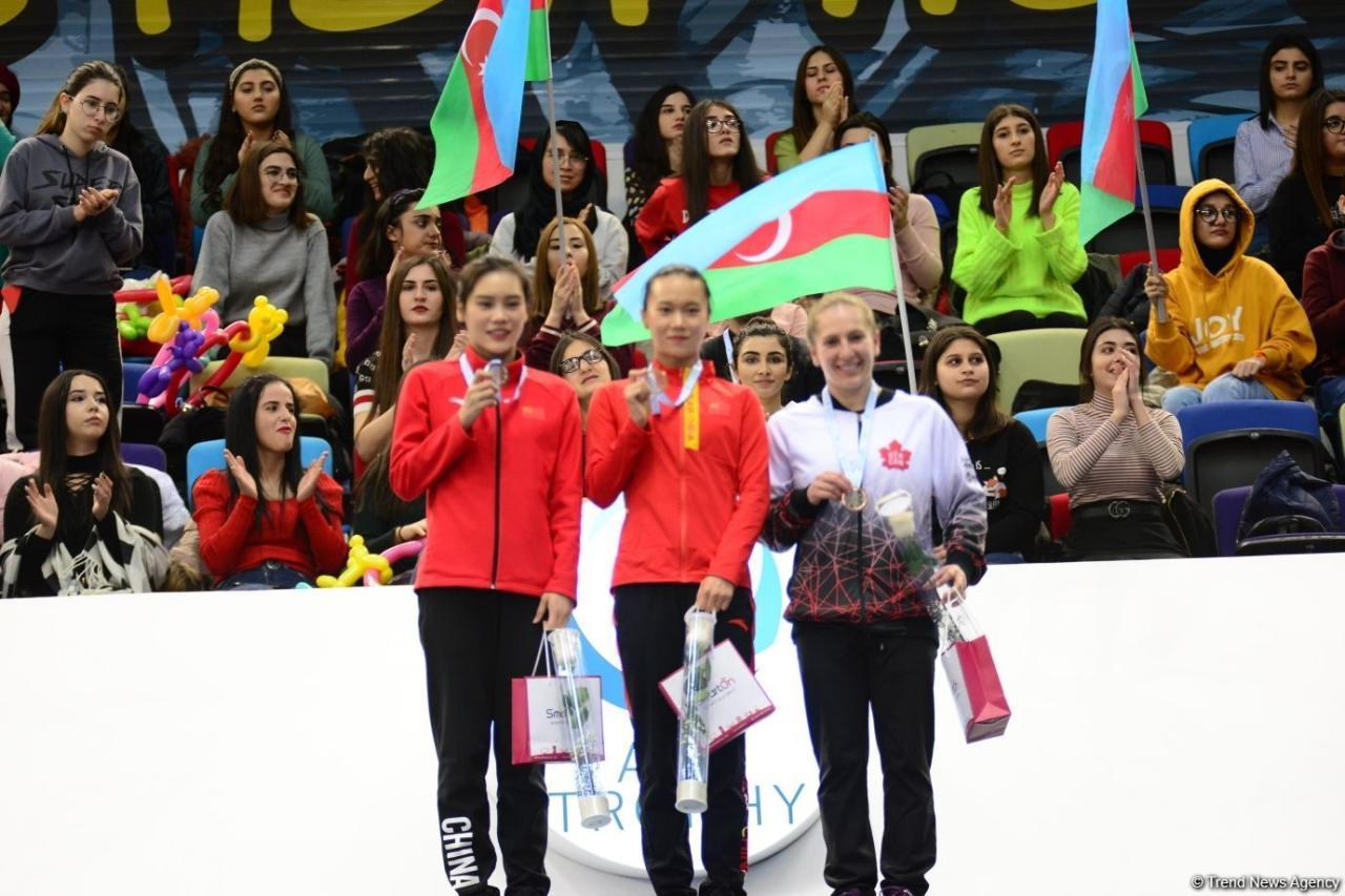 Состоялась церемония награждения победителей и призеров в индивидуальной программе по прыжкам на батуте в рамках Кубка мира