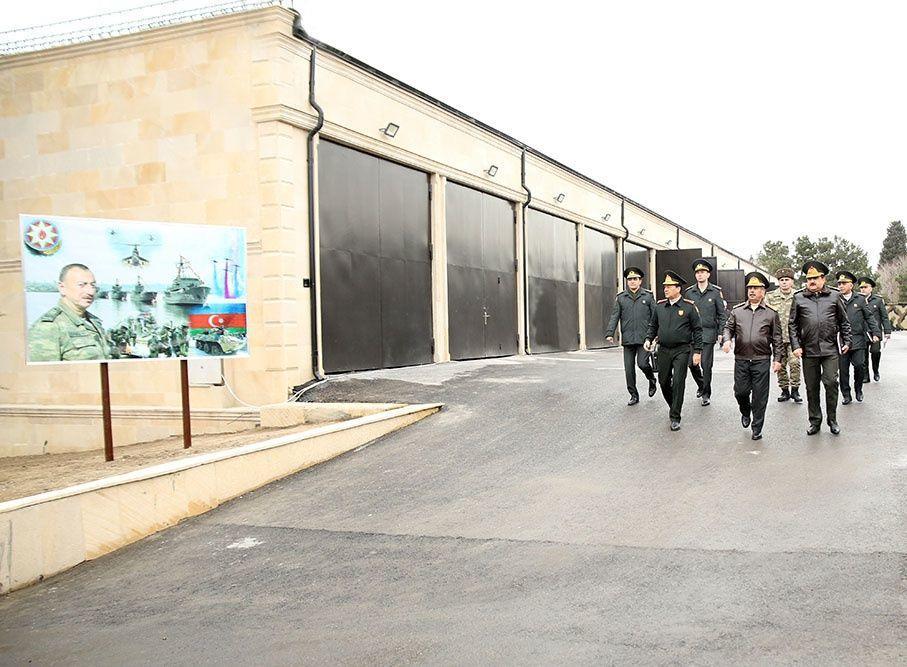 Закир Гасанов принял участие в открытии объектов военного назначения