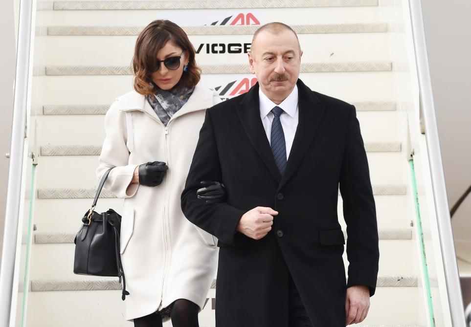 Президент Ильхам Алиев прибыл с государственным визитом в Италию