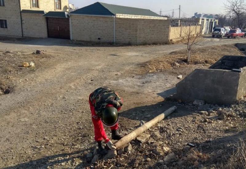 На обочине дороги Баку-Газах найдена ракета