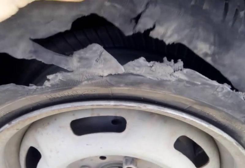 В Товузе в результате взрыва шины скончался рабочий