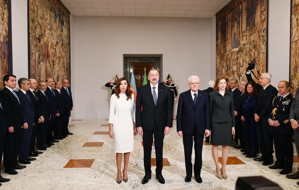В Риме состоялась церемония официальной встречи Президента Ильхама Алиева