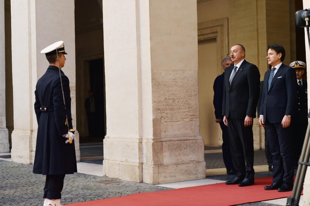 В Риме состоялась встреча Президента Ильхама Алиева и председателя Совета Министров Италии Джузеппе Конте