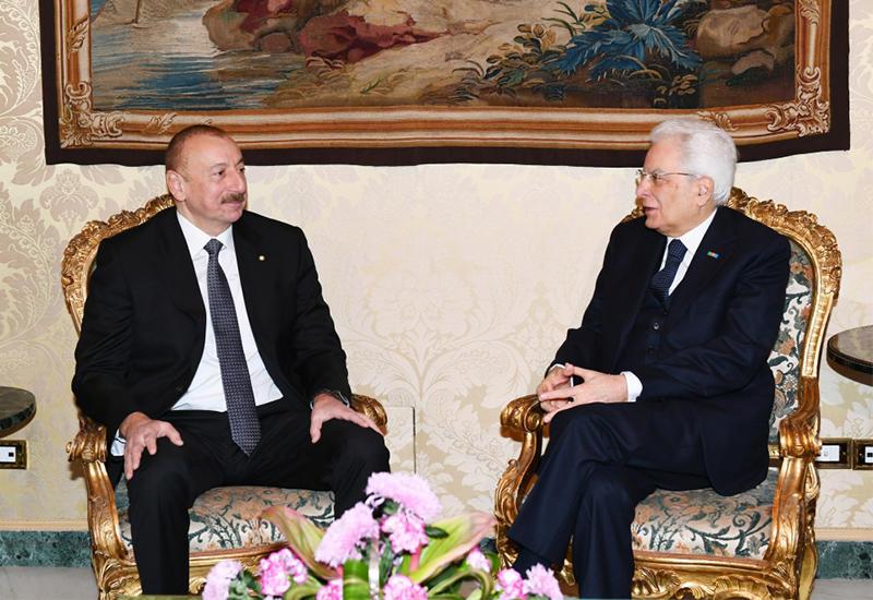 Состоялась встреча Президентов Азербайджана и Италии один на один