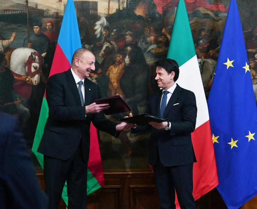 Состоялся обмен азербайджано-итальянскими документами