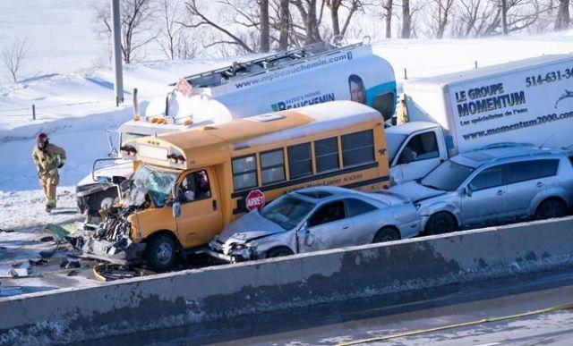 В Канаде столкнулись 200 автомобилей, пострадали 60 человек