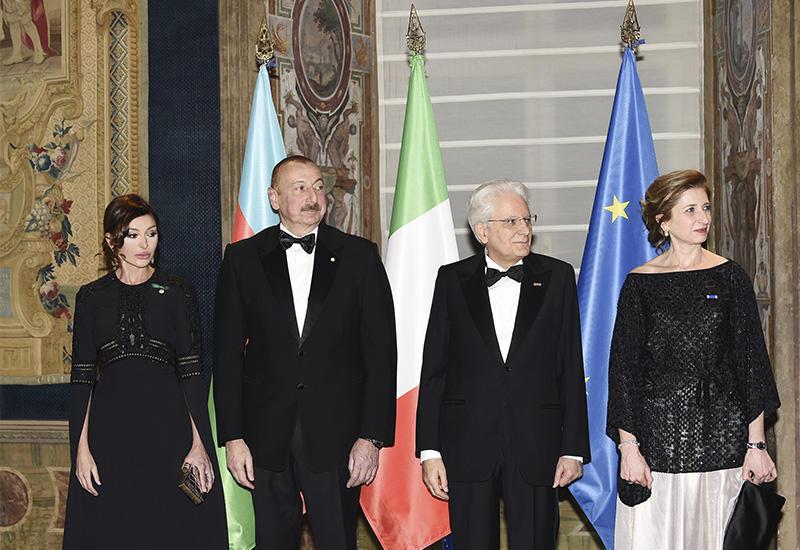 В Риме дан государственный прием в честь Президента Азербайджана