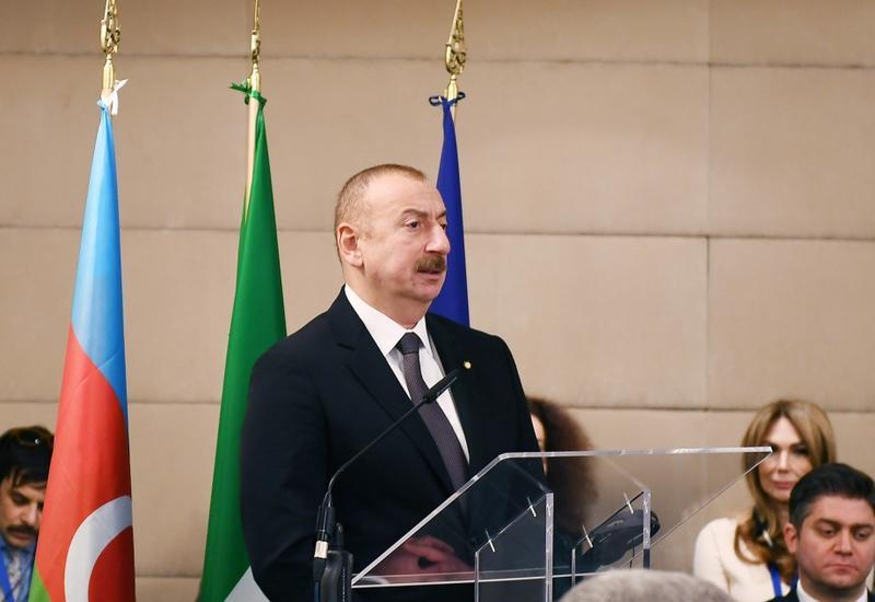 Президент Ильхам Алиев: Итальянские компании должны находиться в первых рядах в проектах, которые реализуются и будут реализованы в Азербайджане по государственной линии