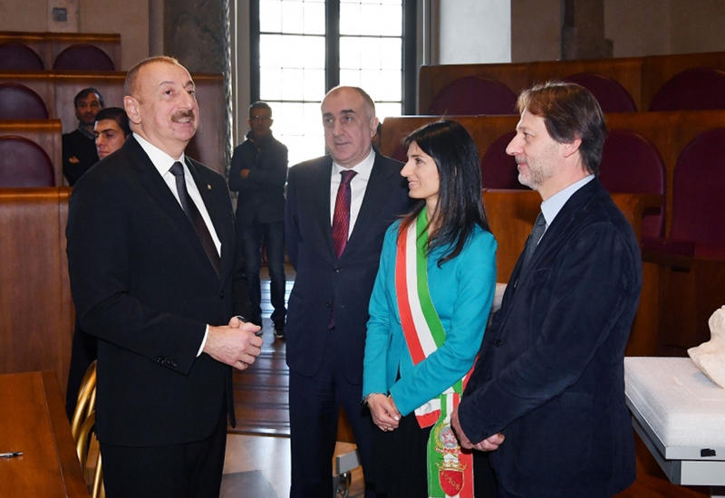 Президент Ильхам Алиев встретился с мэром города Рим