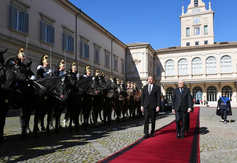 В Риме прошла церемония официальных проводов Президента Ильхама Алиева