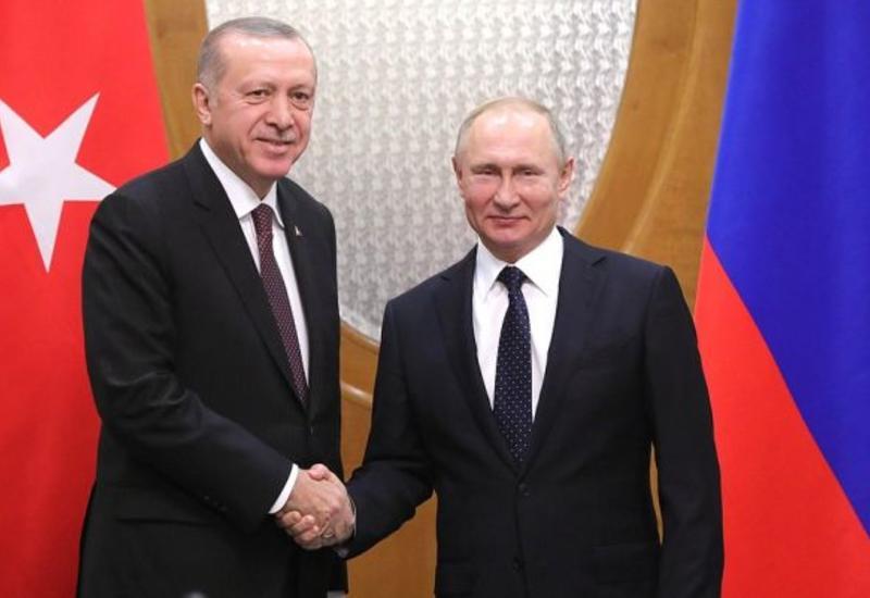 Путин проведет телефонный разговор с Эрдоганом