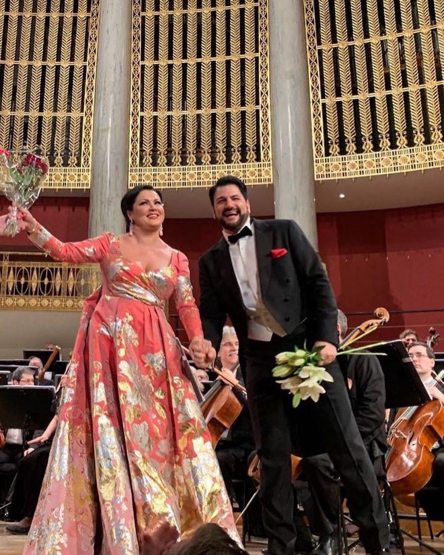 Юсиф Эйвазов и Анна Нетребко с триумфом выступили в Вене