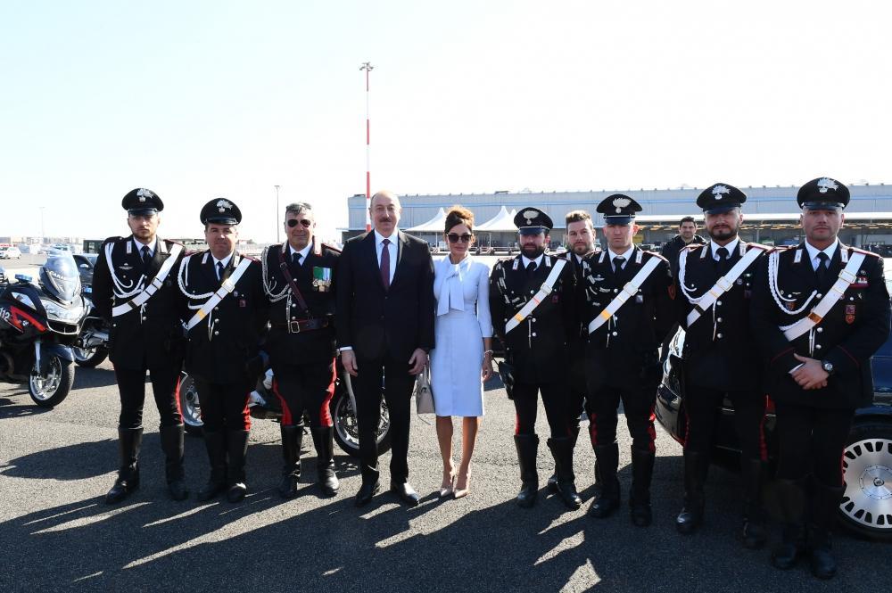 Завершился государственный визит Президента Ильхама Алиева в Италию