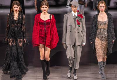 """Черное кружево и красные розы в коллекции Dolce &amp; Gabbana <span class=""""color_red"""">- ФОТО</span>"""