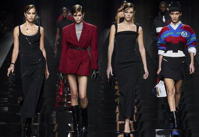 """Красная клетка и фирменные принты на шоу Versace <span class=""""color_red"""">- ФОТО</span>"""