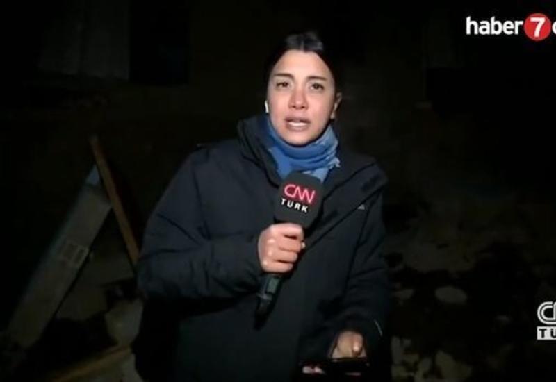 Момент землетрясения в Турции попал на видео