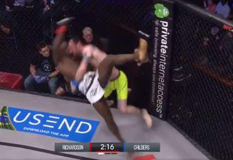 Боец MMA нокаутировал соперника броском об пол