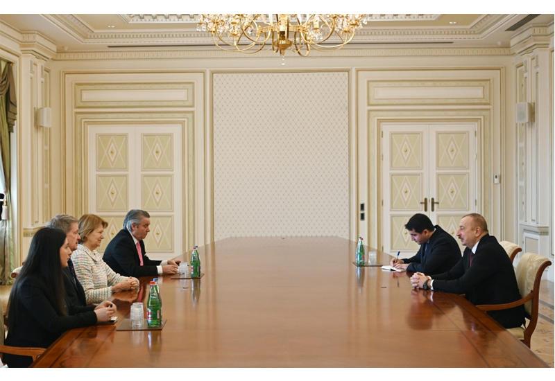 Президент Ильхам Алиев принял делегацию во главе с торговым посланником премьер-министра Великобритании
