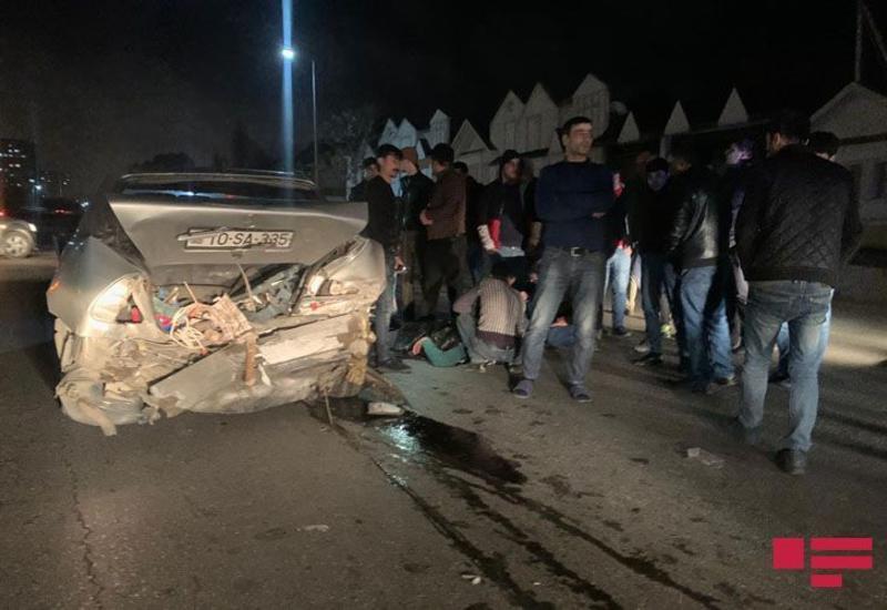 ДТП на шоссе Баку-Сумгайыт, есть пострадавший