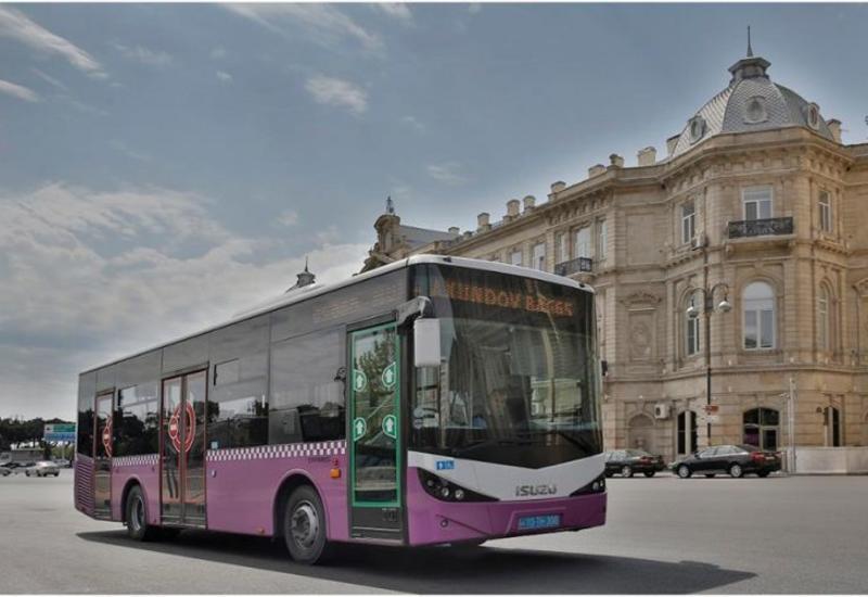 Сотни автобусов в Баку дезинфицируют