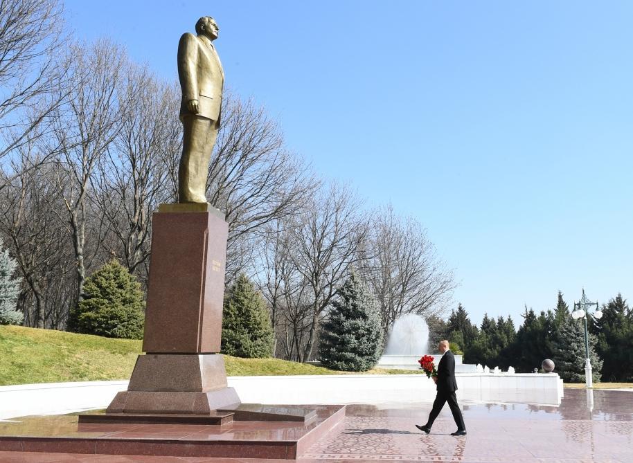 Президент Ильхам Алиев прибыл в Товузский район