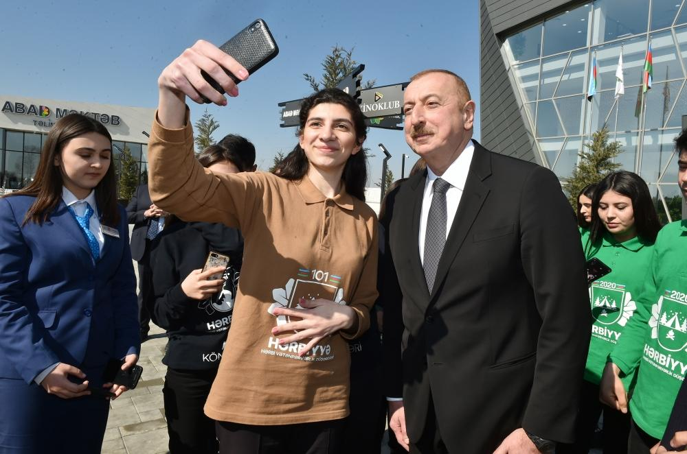 Президент Ильхам Алиев принял участие в церемонии открытия комплекса ASAN Həyat в Товузе