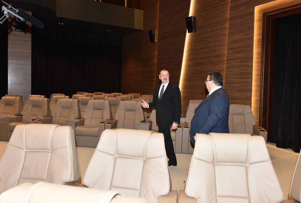 Президент Ильхам Алиев принял участие в открытии Агстафинского аграрно-промышленного комплекса