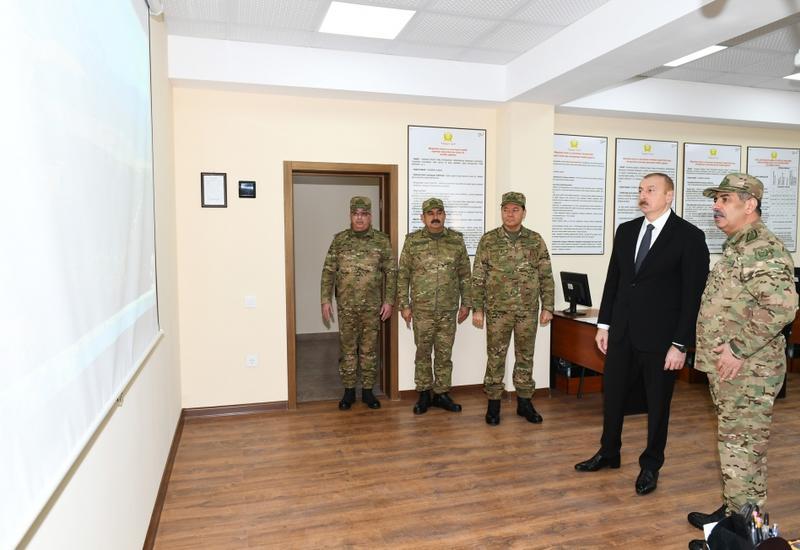 Президент Ильхам Алиев принял участие в открытии Н-ской воинской части Министерства обороны