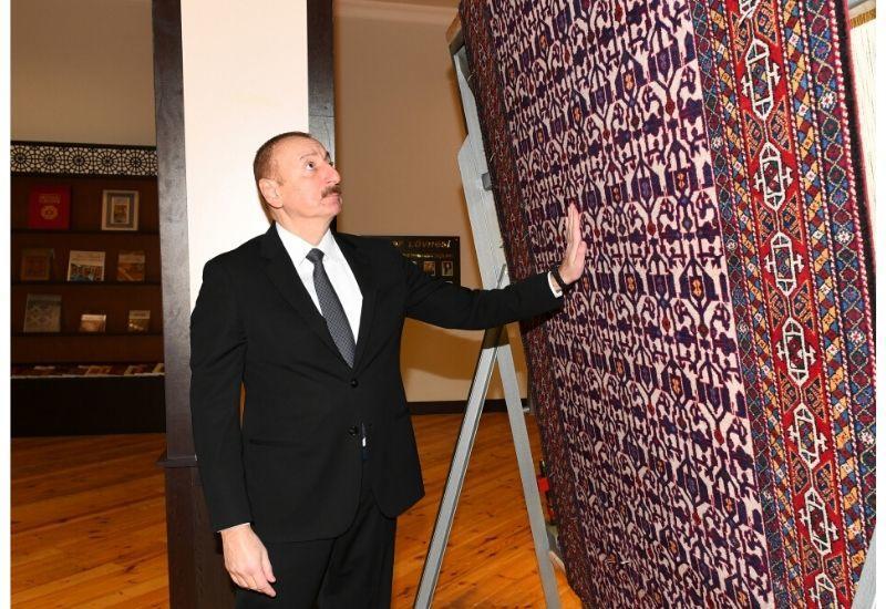 Президент Ильхам Алиев ознакомился с деятельностью Товузского филиала ОАО «Азерхалча»