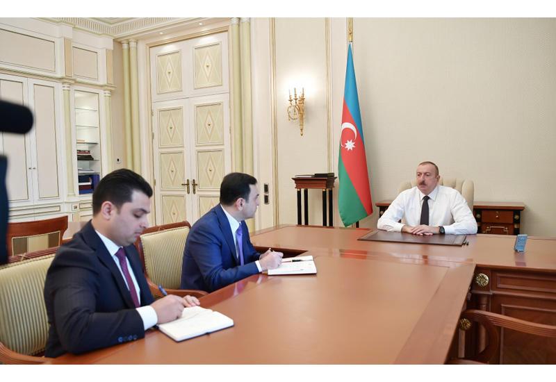 Президент Ильхам Алиев принял Нахида Багирова и Миргасана Сеидова в связи с их назначением на должности глав Исполнительной власти Исмаиллинского и Нефтчалинского районов