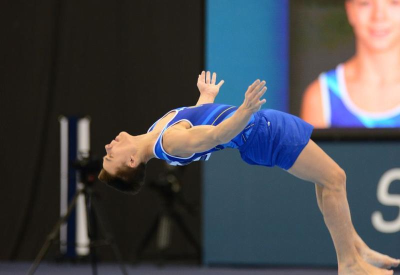 В Баку проходит Международный турнир по мужской спортивной гимнастике AGF Junior Trophy