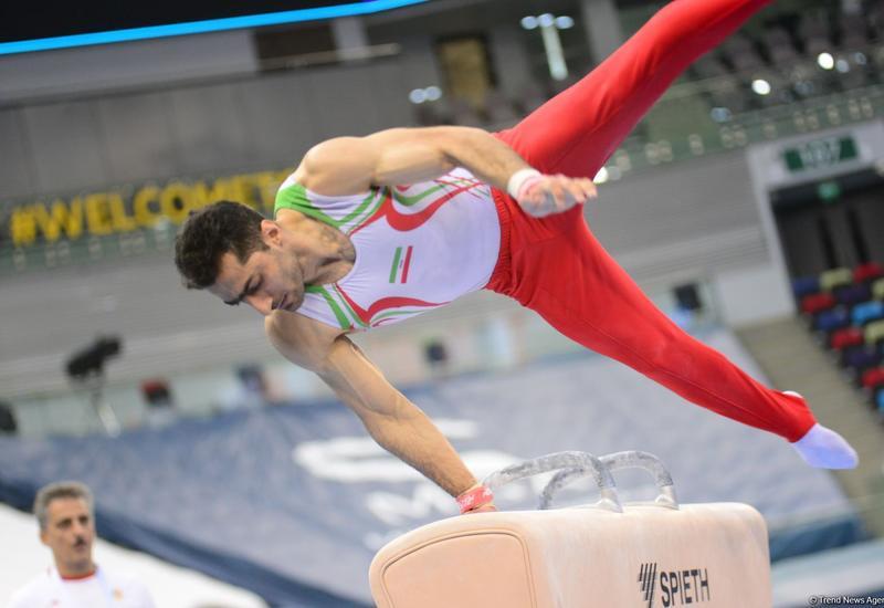 В Национальной арене гимнастики в Баку проходят подиумные тренировки участников Кубка мира FIG по спортивной гимнастике