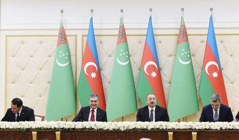 Подписаны азербайджано-туркменские документы