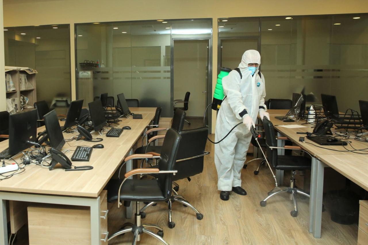 Агентство по развитию МСБ Азербайджана провело дезинфекцию