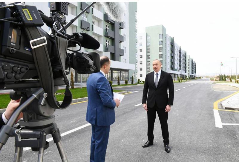 Президент Ильхам Алиев: Все обещания выполняются, и уверен, что как в нынешнем году, так и в последующие годы в этом направлении будет проделана еще более масштабная работа