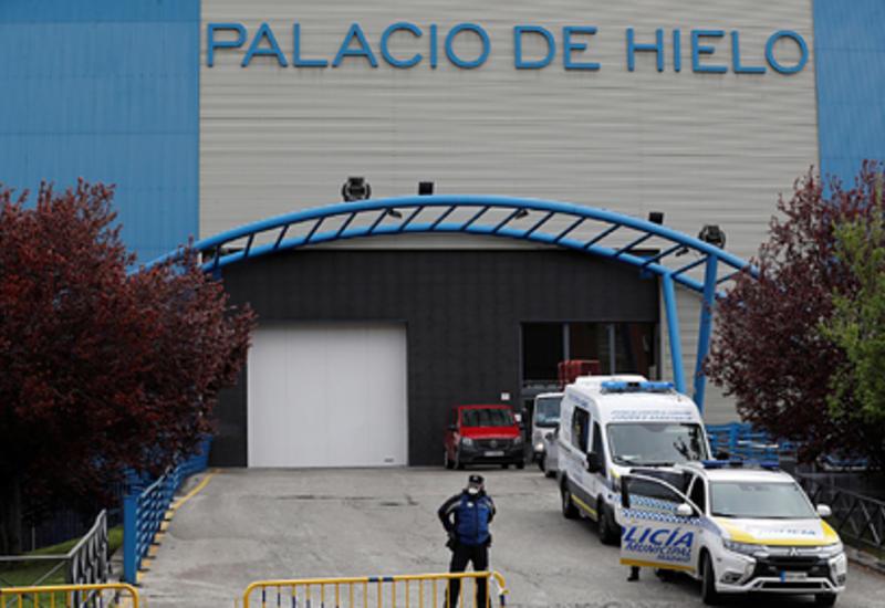 Ледовый каток в Мадриде превратили в морг из-за коронавируса