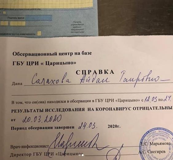 Azərbaycanlı rəssamın qızının koronavirusla bağlı analizlərinin nəticələri açıqlandı