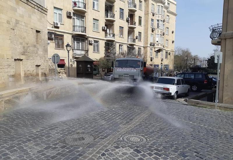 """Дезинфицируются все улицы """"Ичеришехер"""""""