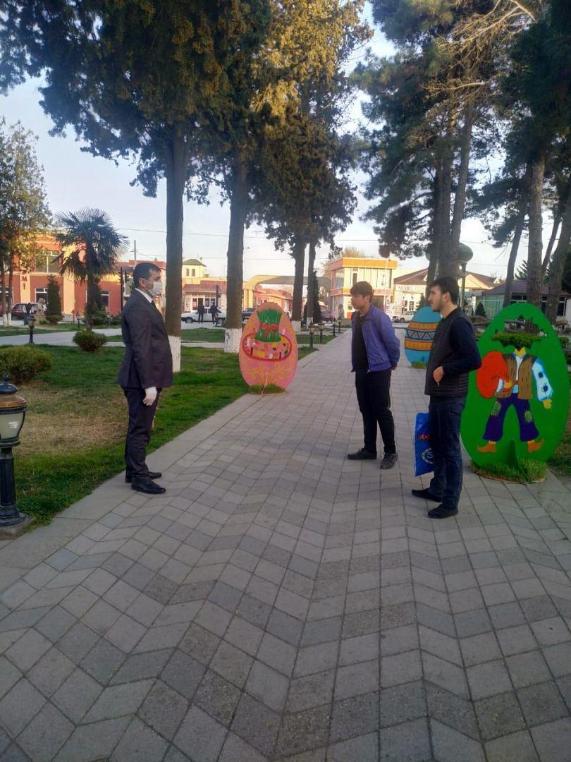 В Хачмазе проводятся просветительские мероприятия в связи с коронавирусом