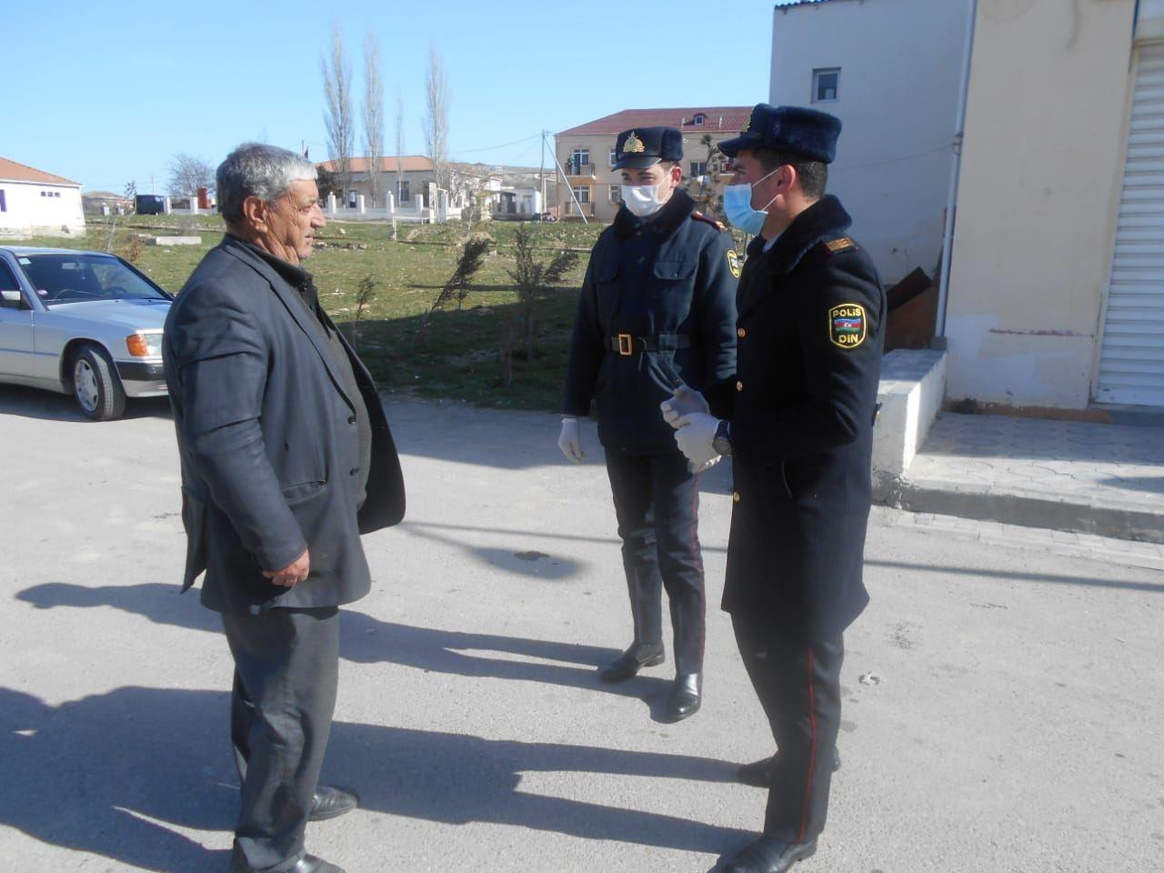 В Хызы полиция продолжает просветительские меры в связи с коронавирусом